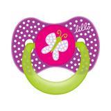 Chupeta lillo funny menina orto silicone - tam1 lilás