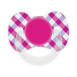 Chupeta lillo funny xadrez orto silicone - tam2 rosa