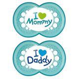 Chupeta MOM e DAD BOYS 6+ Meses MAM 2933 2 Unidades