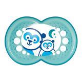 Chupeta Nuk Genius com Bico de Silicone Ortodôntico Tam. 1 - Azul