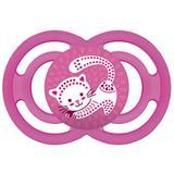 Chupeta perfect silicone - fase 2 - rosa gatinho - mam