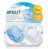 Chupeta Philips Avent 0-6 Meses Freeflow Azul E Branco