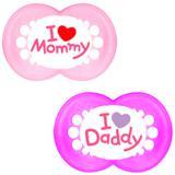Chupetas Ortodôntica Mom e Dad Girls (6m+) 2934 - MAM