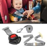 Cinto Segurança Para Cadeirinha Infantil Ajustável com Sinal Sonoro Universal Cinza - Dialp
