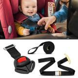 Cinto Segurança Para Cadeirinha Infantil Ajustável com Sinal Sonoro Universal Preto - Dialp