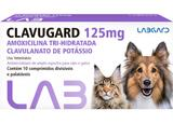 Clavugard 125 mg Antimicrobiano cães e gatos 10 comprimidos - Labgard