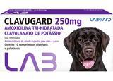 Clavugard 250 mg Antimicrobiano cães e gatos 10 comprimidos - Labgard