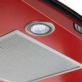 Coifa em Vidro Curvo Slim Vermelho de 80 cm - 127 Volts - Fogatti