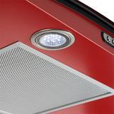 Coifa em Vidro Curvo Slim Vermelho de 90 cm - 220 Volts - Fogatti