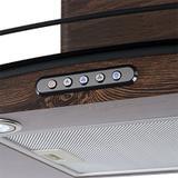 Coifa em Vidro Curvo Slim Wood Color-Nog de 80 cm - 220 Volts - Fogatti