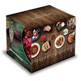 Coleção Folha Cozinhas do Mundo / 28 livros de 28 países do mundo + caixa box