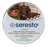 Coleira Anti Pulgas E Carrapato Seresto Bayer  Acima De 8 Kg