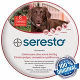 Coleira Antipulgas Seresto Bayer Cães E Gatos Acima De 8kg