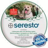 Coleira Antipulgas Seresto Bayer Cães E Gatos Até 8kg