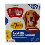 Coleira Bulldog Anti-Pulgas e Carrapatos p/ Cães 64cm - Coveli