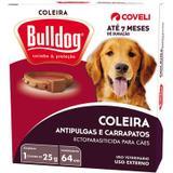 Coleira Bulldog Antipulgas e Carrapatos para cães - Coveli