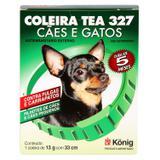 Coleira Contra Pulgas e Carrapatos TEA 327 Cães Pequenos König 13g c/ 33cm - Konig