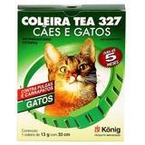 Coleira Contra Pulgas e Carrapatos TEA 327 Gatos 13g c/ 33cm - Konig