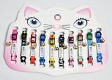 Coleira Para Gatos Elástica Com Pingente Guizo Colors 10 Peças - Distribuipet