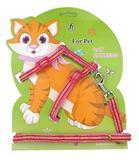 Coleira Peitoral Gato Com Guia Passeio Kimhome Regulagem - Pet import