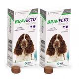 Combo 2 Unidades Antipulgas E Carrapatos Bravecto Para Cães De 10 A 20kg - Msd Saúde Animal