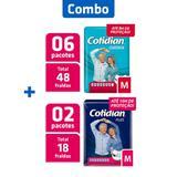 Combo 6 Pcts Fralda Adulto Clássica M + 2 Pcts Fralda Plus M - Cotidian