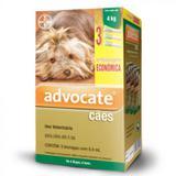 Combo Advocate Bayer 0,4ml Para Cães Até 4 Kg - 3 Pipetas