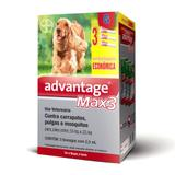 Combo Antiparasitário Advantage Max-3 G Para Cães de 10 a 25 kg - 3 Pipetas (2,5 ml) - Bayer