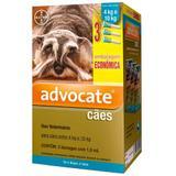 Combo Antiparasitário Advocate Para Cães de 4 a 10kg com 3 Pipetas (1,0 ml) - Bayer