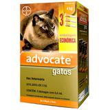 Combo Antiparasitário Advocate Para Gatos 0 a 4kg - 3 Pipetas (0,4 ml) - Bayer