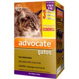 Combo Antiparasitário Advocate Para Gatos 4 a 8kg - 3 Pipetas (0,8 ml) - Bayer