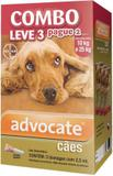 Combo Antipulgas Advocate Cães (2,5ML) 10 a 25KG - Bayer