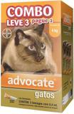 Combo Antipulgas Advocate Gatos (0,4ML) até 4KG - Bayer