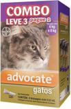 Combo Antipulgas Advocate Gatos (0,8ML) 4 a 8KG - Bayer