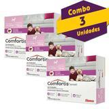 Combo Antipulgas Comfortis Elanco para Cães de 2,3 a 4,5kg  3 unidades