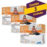 COMBO Antipulgas Comfortis spinosad 270mg combo com 3 unidades - Elanco