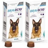 Combo Bravecto Antipulgas E Carrapatos Para Cães De 20 - 40kg - 2 unidades - Msd