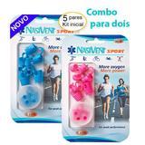 COMBO - Dilatador Nasal Nasivent Sport (azul e pink) - 5 Pack