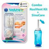 Combo - Dilatador NasiVent Tube Plus Kit Inicial + Lavador nasal SinuCare