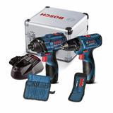 Combo Furadeira/Parafus. GSR 120-Li + Chave Parafus. GDR 120-Li + Acess - Bosch