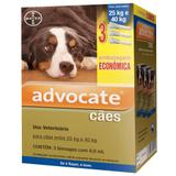 Combo leve 3 pague 2  advocate caes 25 a 40kg (4,0ml)  bayer