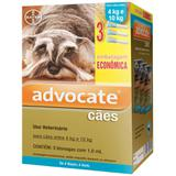 Combo leve 3 pague 2  advocate cães 4 a 10 kg ( 1,0ml)  bayer