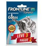 Combo Leve 3 Pague 2 - Frontline Topspot Para Gatos - Merial