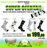 Combo meias cano médio compressão temáticas  pets - Fm sports