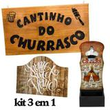 Combo Placa Decorativa Madeira ,abridor Garrafa Porta Chave - Dlima artes