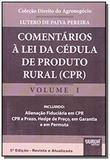 Comentarios a lei da cedula de produto rural cpr - Jurua