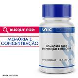 Composto para disposição e memória 30 caps - Unicpharma