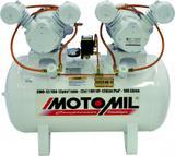 Compressor Odontológico Motomil CMO 12 100Lts 120Psi 2 motores de 1cv 127/220v Monofásico