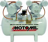 Compressor Odontológico Motomil CMO 12 150Lts 120Psi 2 motores de 1cv 127/220v Monofásico