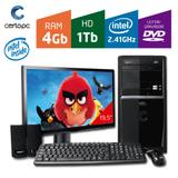 Computador + Monitor 19,5 Intel Dual Core 2.41GHz 4GB HD 1TB DVD Certo PC FIT 044